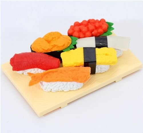 Iwako erasers Sushi Japan 6 pieces set - 1