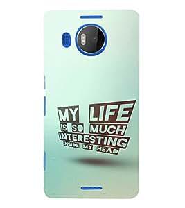 EPICCASE Interesting Life Mobile Back Case Cover For Microsoft Lumia 950 XL (Designer Case)