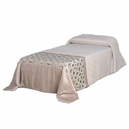 Lola Derek - Colcha 180x260 moderno beige de poliéster para dormitorio France