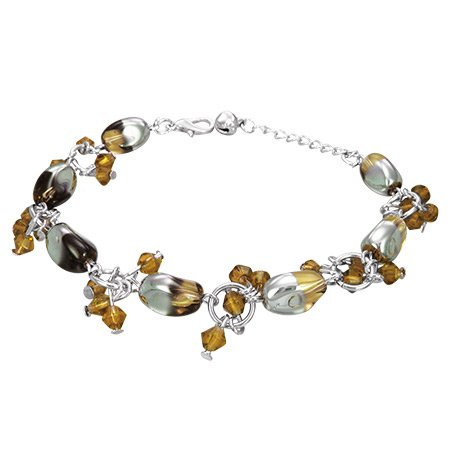 The Stainless Steel Jewellery Shop - Gorgeous Brown Beads Bracelet