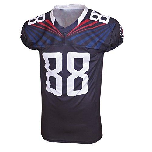 American rugby Jersey Formazione merci di colore nero V-collo gli appassionati di sport Abbigliamento