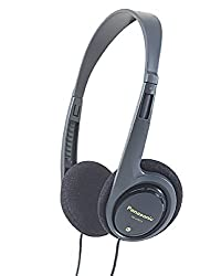 Panasonic RP-HT010GU-K On-Ear Headphone with Deep Bass For iPod, MP3 player (Black)