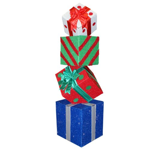 Discount deals 60 lighted multi color animated gift box for Christmas decoration deals