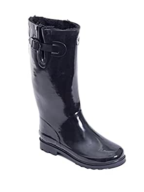 Amazon.com: Women Rubber Rain Boots / Lined Warm Snow