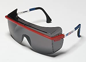 Uvex Astro OTG 3001 Patriot Frame/Gray Lens Safety Glasses