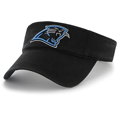 NFL Carolina Panthers Men's Clean Up Cap Visor, One Size, Black