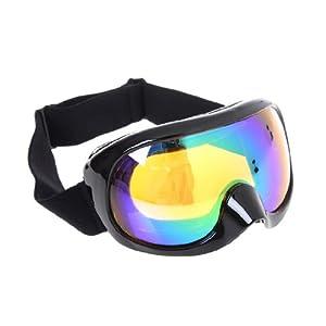 Anti-poussière, lunettes de ski,sport lunettes équitation coupe-vent lunettes de moto multicolore avec une bande réglable