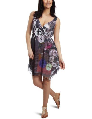 Desigual Quefarem Wrap Women's Dress Black  10