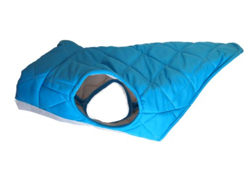 American Digs Quilted Puffer Dog Coat XL Aqua, Fits Dogs 39-47 lbs