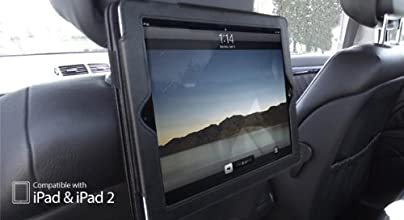 Orzly® - Apple iPad 2 / 3 / 4 FUNDA / SOPORTE para REPOSACABEZAS DEL COCHE en NEGRO - Apto para iPad2 / iPad3 / iPad4 (Alias: BLACK Dual Function In-Car Headrest Holder & Flip Case Cover for iPad 4 / iPad 3 / iPad 2 Models)