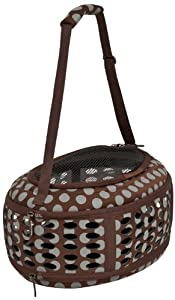 Petmate 21789 Curvations Underseat Small Pet Traveler with Dots, Brown/Gray