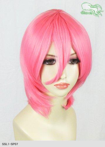 スキップウィッグ 魅せる シャープ 小顔に特化したコスプレアレンジウィッグ マシュマロショート ネオンピンク