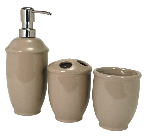 Nuvo Design Roma Ceramic Bath Set, 3-Piece