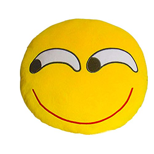 Lowest Prices! HeroNeo® Soft Emoji Smiley Emoticon Yellow Round Cushion Pillow Stuffed Plush Toy Do...
