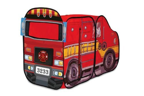 Playhut Fire Engine Play Tent - 48 X 24 X 33 Inches - Red