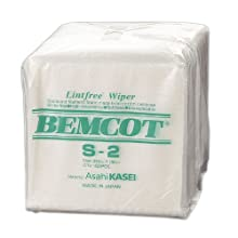"Contec S2 Bemcot S2 100 Percent Filament Rayon Nonwoven Quarter-Fold Low-Linting Wipe, Extremely Absorbent, 10"" Length x 10"" Width (Pack of 150)"