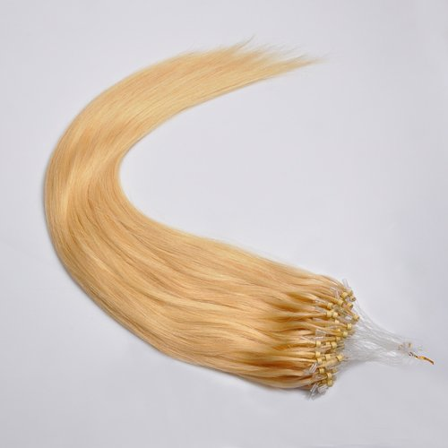 Full Head 100S Indian Remy 16 Inch Loop Human Hair Extensions 1G/S 100G #22 Golden Blonde