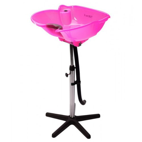 Hairdressers Pink Portable Tilting Backwash Stand