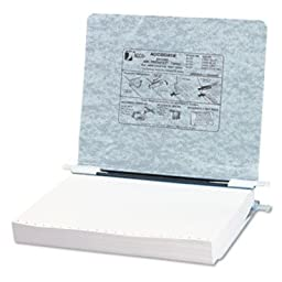 ACCO Products - ACCO - Pressboard Hanging Data Binder, 11 x 8-1/2 Unburst Sheets, Light Gray - Sold As 1 Each - Top and bottom loading binder expandable for various sized projects. - Retractable storage hooks for single point or drop file hanging systems.