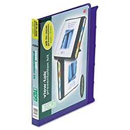 View-Tab Round Ring Presentation Binder, 5-Tab Style, 5/quot; Capacity, Blue