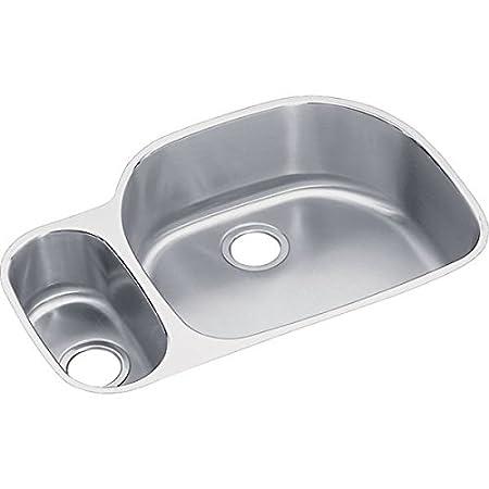 Elkay ELUH3221L Harmony Lustertone Undermount Sink, Stainless Steel
