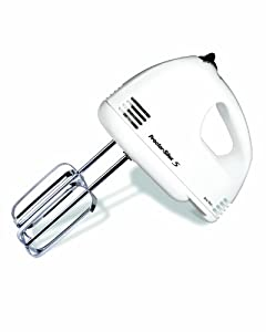 Proctor Silex 62515 5-Speed Easy Mix Hand Mixer, White
