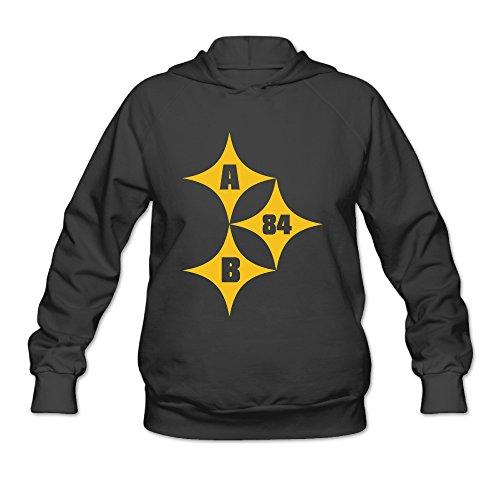 [AK79 Women's Sweater Antonio Brown #84 Steelers Size XXL Black] (Liberty Bell Costumes)