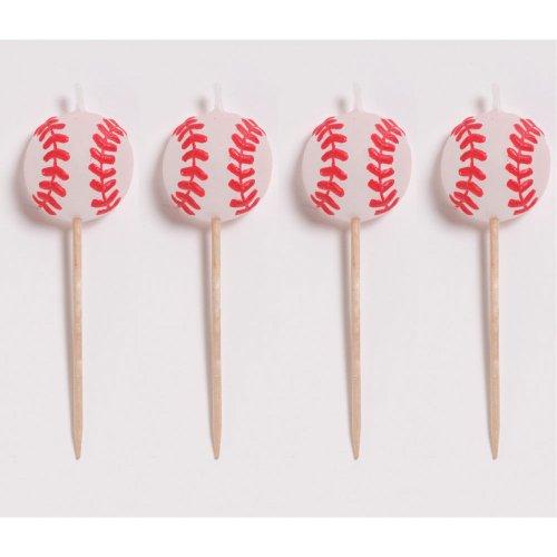Baseball Candles, Molded Pick Sets - 4/Pkg. - 1