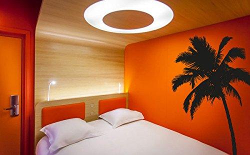 Wall Decal Vinyl Sticker Decals Art Decor Design Palm Branch Beach Tree Hawaii Sun Summer Surf Dorm Bedroom Mural Modern Dorm (R1080) front-881867
