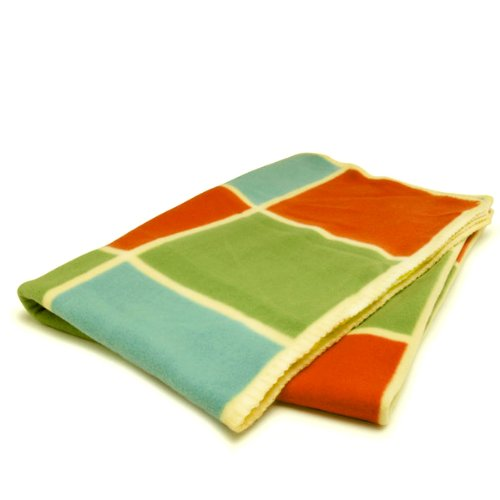 Sagaform Colorful Blocks Fleece Stroller Baby Blanket