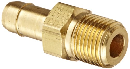 "Eaton Weatherhead 1068X6X2 Brass Ca360 Mini-Barb Brass Fitting, Adapter, 3/8"" Tube Od X 1/8"" Npt Male front-569037"