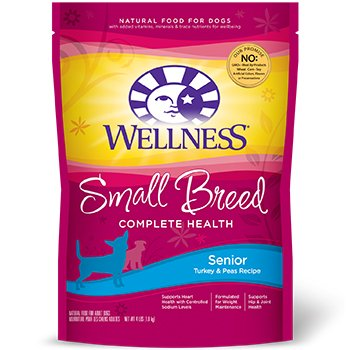 Wellness Small Breed Complete Health Turkey & Peas Senior Dog Food, 4 lbs.