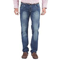 Trigger Men's Regular fit Blue JeansB44L-233S