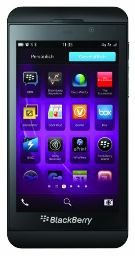 BlackBerry Z10 Smartphone, Display da 4.2 Pollici, Touchscreen, Fotocamera 8 Megapixel, Memoria Ampliabile 16 GB, 4G LTE, Nero [Germania]