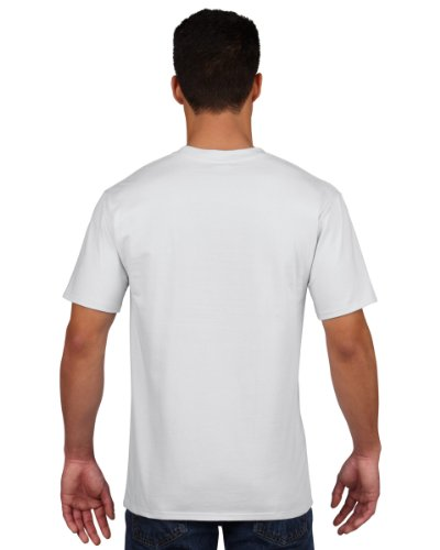 Gildan Premium T-Shirt für Männer (L) (Weiß)