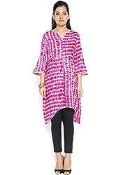 9Rasa Cotton Viscose Tie & Dye Embellished Tunic