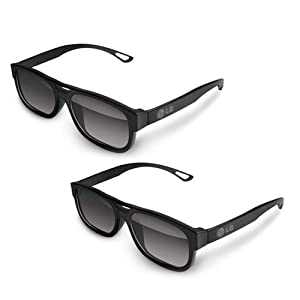 LG AG-F210 Cinema 3D Glasses (2-Pairs) for 2011 and 2012 LG 3D LED-LCD HDTVs (Colors May Vary Black, White, Orange )