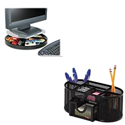 KITKMW60049ROL1746466 - Value Kit - Kensington Spin2 Monitor Stand (KMW60049) and Rolodex Mesh Pencil Cup Organizer (ROL1746466)