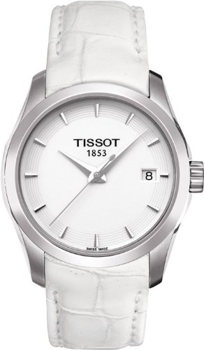 Tissot Couturier White Dial White Leather Strap