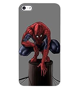 ColourCraft Superhero Design Back Case Cover for APPLE IPHONE 4