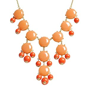 Bubble Necklace,Statement Necklace, Bubble Jewelry(Fn0508-Cinnamon)