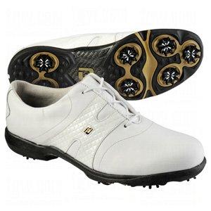FootJoy Ladies DryJoys Diamond Print Golf Shoes White/White 6