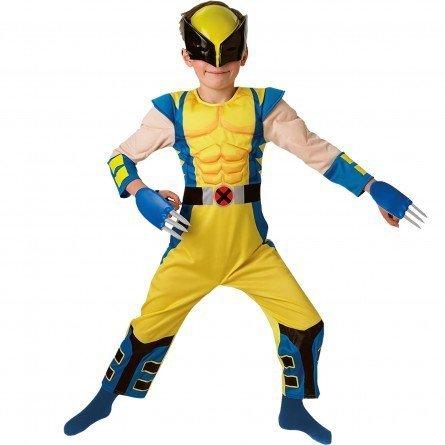 Rubie's Wolverine Costume Bambino Deluxe, Stampato con petto imbottito, maschera e artigli, 5-6 anni, 116 cm di altezza