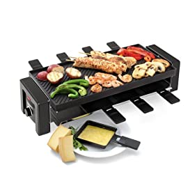 Toastess TPG-457 8-Person Nonstick Party Grill/Griddle and Raclette