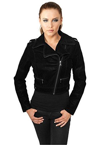 Urban Classics Damen Jacke Short Biker, Color:black;Größe:XS