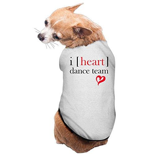 [Cute Dog Comfortable Heart Dance Pet Supplies] (Dance Recital Costumes Revolution)