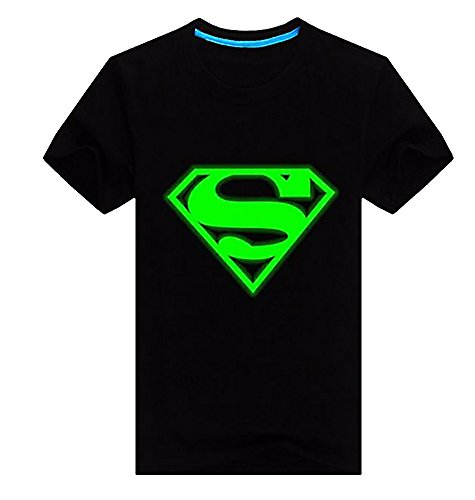 BECOOL Men's Glove in Dark Novelty Printed T-Shirt, Superman 303