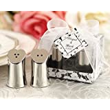 Seasoned with Love Heart-shaped Salt and Pepper Shakers in Elegant Gift Box ~ Planaganza Event Shop
