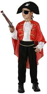 Atosa - Disfraz de capitán pirata para niño, talla 3 - 5 años (95705)