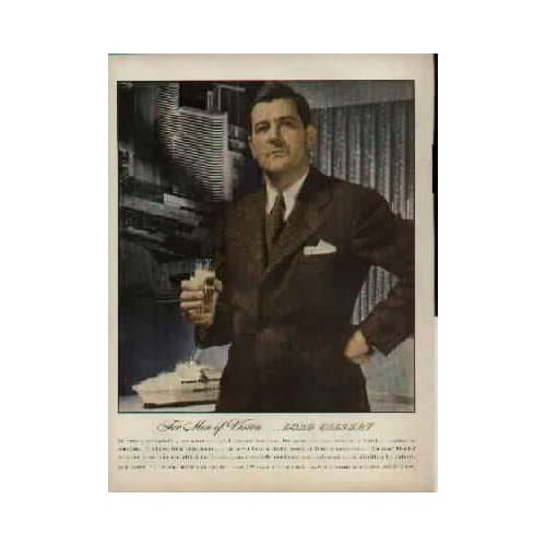 For Men of Vision  LORD CALVERT.  1943 LORD CALVERT Blended Whiskey Ad, A4362.